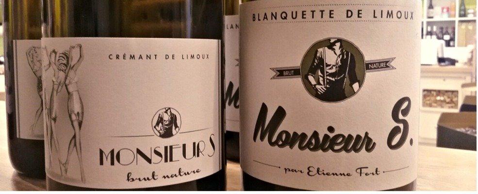 Monsieur S - Les invincibles - Limoux - Cremant Brut Nature - Blanquette Brut Nature - Samo